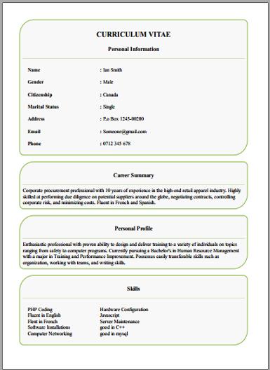 Online Free Cv Maker Create Online Cv With Easy Tool